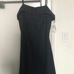 Banana Republic Navy Pinstriped Dress 8 NWT